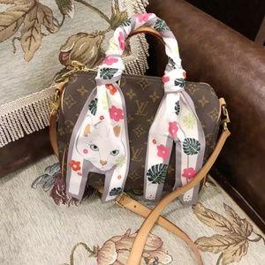 Accessories - Fashion Designer Twilly Cat Bag Neck Scarf